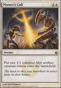 Tribal Myr copy (My draft) (Modern MTG Deck)