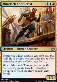 Blue Red Energy Thopters (Standard MTG Deck)