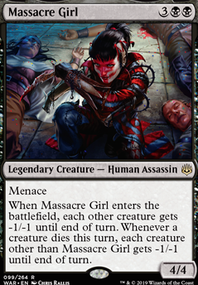 Big Mana Massacre Girl (Commander / EDH MTG Deck)