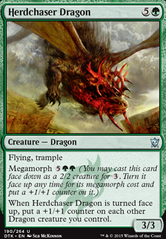 Herdchaser Dragon Dtk Mtg Card