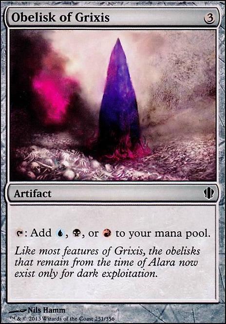 Obelisk Of Grixis C13 Mtg Card