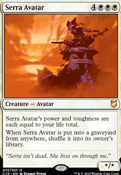 SERRA AVATAR Commander 2014 MTG White Creature — Avatar Mythic Rare