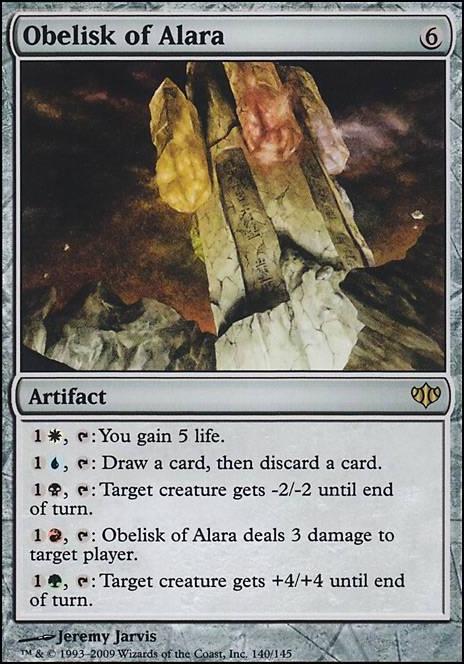 Obelisk Of Alara Con Mtg Card