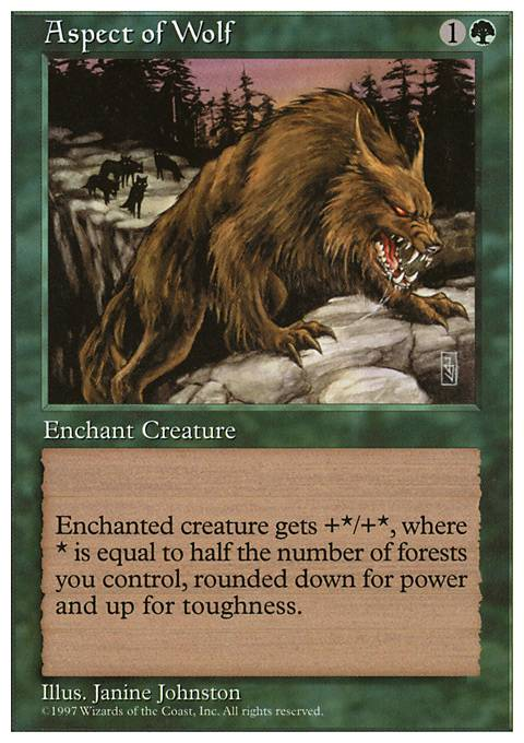 Aspect Of Wolf 5ed Mtg Card