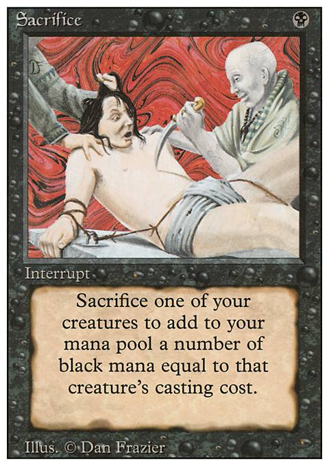 sacrifice 3ed mtg card