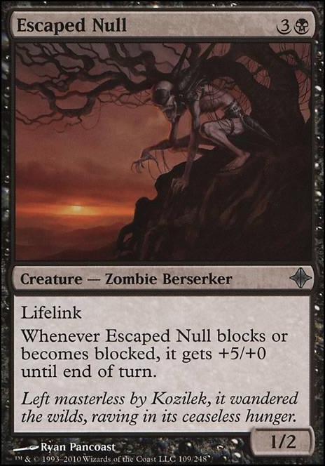 Escaped Null