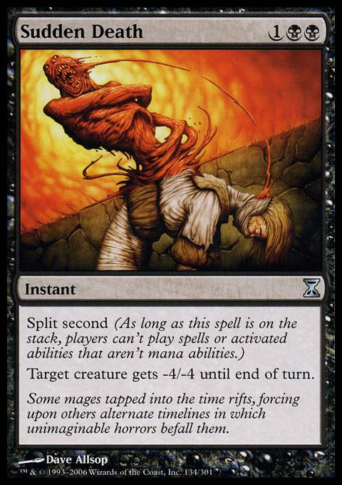 split second mtg cards