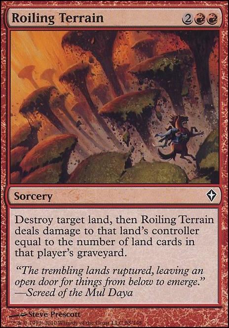 Roiling Terrain (WWK MTG Card)
