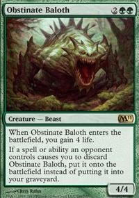MTG Card: Obstinate Baloth
