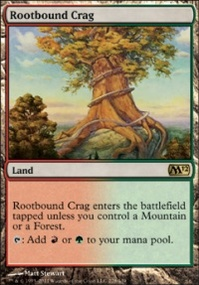 MTG Card: Rootbound Crag