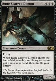 MTG Card: Rune-Scarred Demon