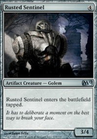MTG Card: Rusted Sentinel