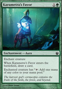Karametra's Favor (BNG MTG Card) Karametras Favor