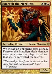 MTG Card: Kaervek the Merciless