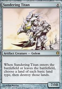 MTG Card: Sundering Titan