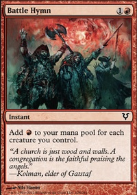 MTG Card: Battle Hymn