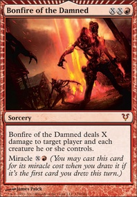 MTG Card: Bonfire of the Damned 