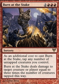 MTG Card: Burn at the Stake