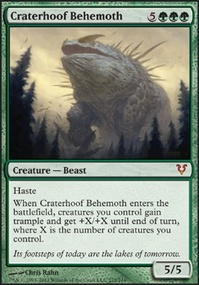 MTG Card: Craterhoof Behemoth