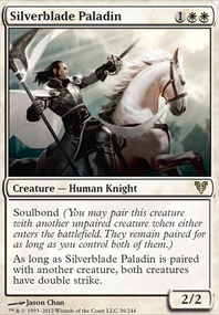 MTG Card: Silverblade Paladin