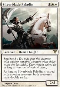 MTG Card: Silverblade Paladin