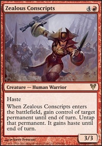 MTG Card: Zealous Conscripts