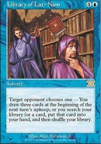 MTG Card: Library of Lat-Nam