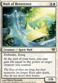 MTG Card: Wall of Reverence