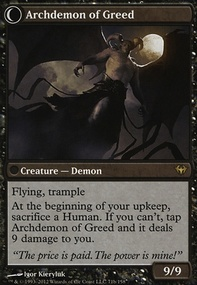 MTG Card: Archdemon of Greed