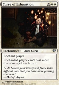 MTG Card: Curse of Exhaustion