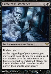 MTG Card: Curse of Misfortunes