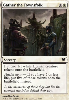 MTG Card: Gather the Townsfolk