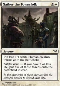MTG Card: Gather the Townsfolk