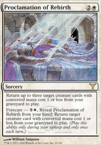 MTG Card: Proclamation of Rebirth