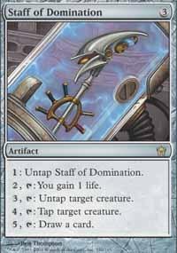 MTG Card: Staff of Domination