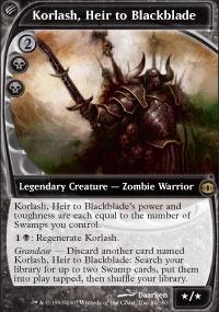 MTG Card: Korlash, Heir to Blackblade