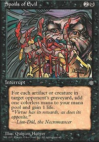 MTG Card: Spoils of Evil