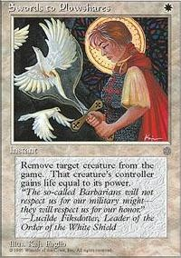 MTG Card: Swords to Plowshares