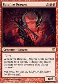 MTG Card: Balefire Dragon