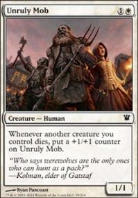 MTG Card: Unruly Mob