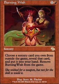 MTG Card: Burning Wish