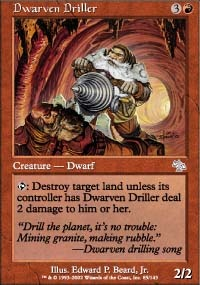 MTG Card: Dwarven Driller