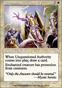 MTG Card: Unquestioned Authority