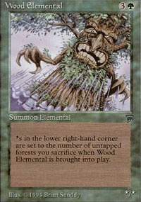 MTG Card: Wood Elemental