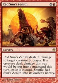 MTG Card: Red Sun's Zenith