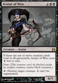 MTG Card: Avatar of Woe