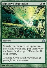 MTG Card: Explosive Vegetation
