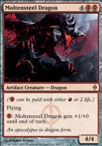 MTG Card: Moltensteel Dragon