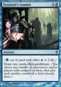 MTG Card: Tezzeret's Gambit