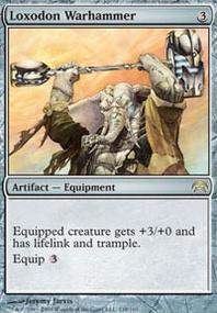 MTG Card: Loxodon Warhammer
